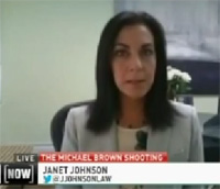 Janet Johnson on Headline News discussing Michael Brown shooting