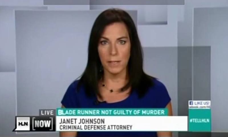 Janet Johnson on Headline News speaks about Oscar Pistorius case